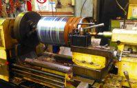 Conveyor belt drive pulley machining